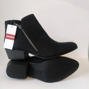 UnionBay Black Suede Booties